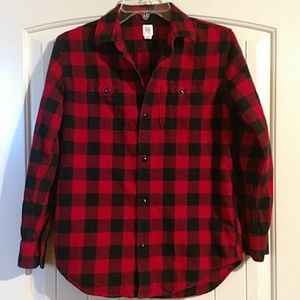 Gap black and red buffalo plaid flannel shirt